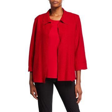 Plus Size Paris Plush Mid-Length Easy Jacket