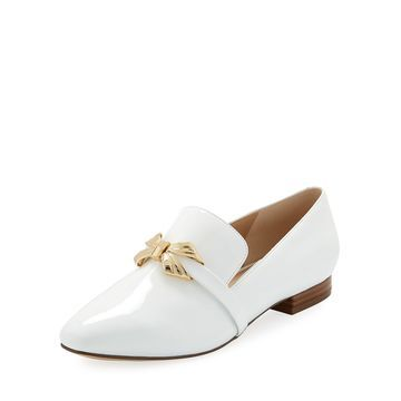 Naomi Patent Leather Bow Loafers
