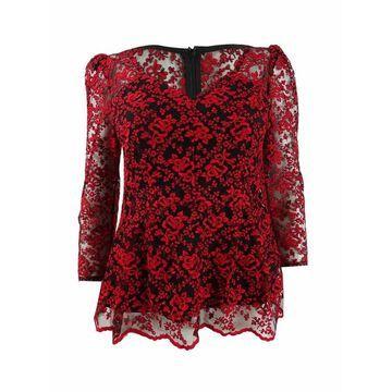 Nanette Lepore Women's Lace 3/4-Sleeve Blouse