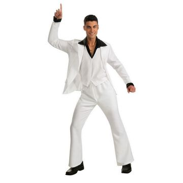 BuySeasons Men's Saturday Night Fever White Suit Adult Costume