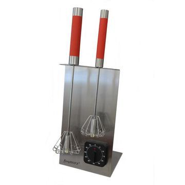 BergHOFF Whisk Stand and Timer Set, 18/10 SS , 16.5-in, Red