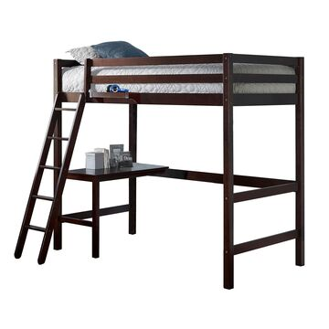 Hillsdale Furniture Caspian Loft Bed with Hanging Nightstand