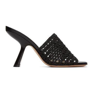 Nicholas Kirkwood Black Alba Mule Heeled Sandals