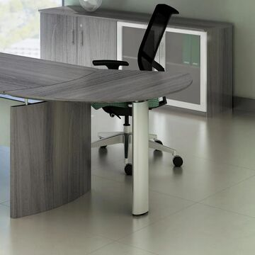 Mayline Medina Left Curved Desk Extension (Mocha)