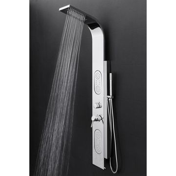 AKDY 58-in Chrome 2-Spray Shower Panel System