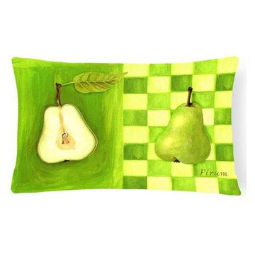 Pear by Ute Nuhn Fabric Decorative Pillow