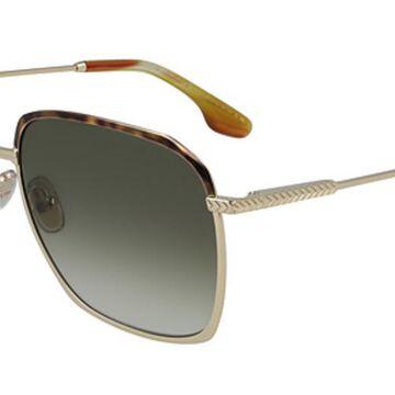 Victoria Beckham VB207S 700 Womenas Sunglasses Gold Size 59