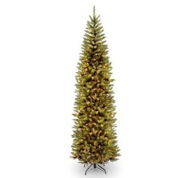 National Tree Company 9' Kingswood Fir Pencil Pre-Lit Christmas Tree With Clear Lights Green