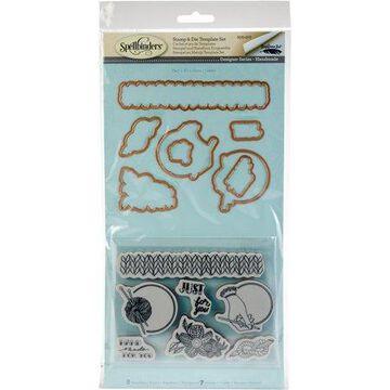 Spellbinders Stamp & Die Set-Yarn