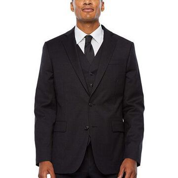 Stafford Super Checked Stretch Suit Jacket