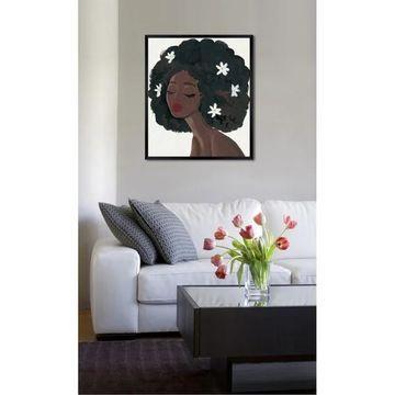 Oliver Gal 'Flowers in My Hair' Framed Art