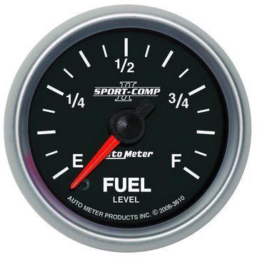 AutoMeter 3610 Sport-Comp II Programmable Fuel Level Gauge