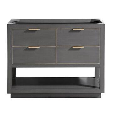 Avanity Allie 42-in Twilight Gray Bathroom Vanity Cabinet