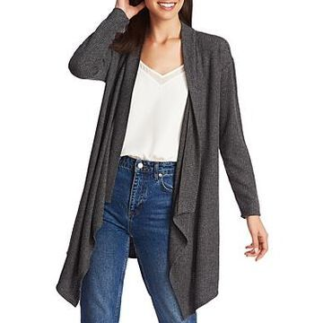 1.state Brushed Drape-Front Open Cardigan