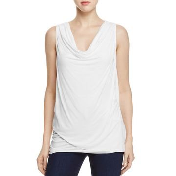 Three Dots Womens Asymmetric Sleeveless Pullover Top