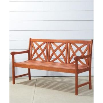 Vifah Malibu Outdoor Patio Wood Garden Bench