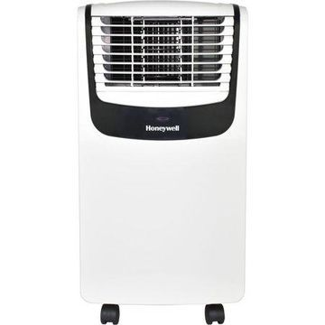 Honeywell MO Series Compact 3-in-1 Portable Air Conditioner with Remote Control for Rooms up to 250 Sq. Ft. in White/Black