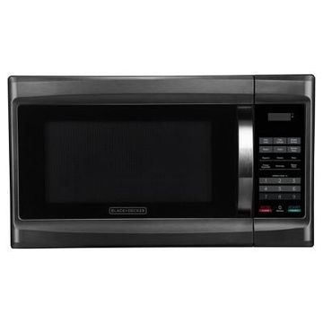 BLACK+DECKER 1.3 cu ft 1000 Watt Microwave Oven Black Stainless Steel
