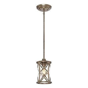 Millennium Lighting Lakewood Vintage Gold Mid-Century Cylinder Pendant Light   2171-VG