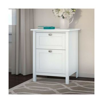 Bush Furniture Broadview 2 Drawer File Cabinet in Pure White