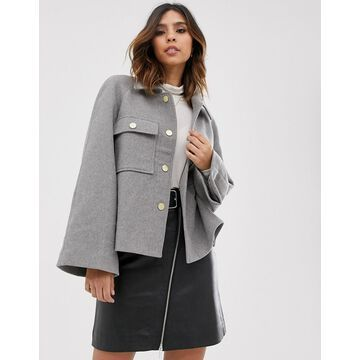 Y.A.S boxy utility jacket with volume sleeve-Multi