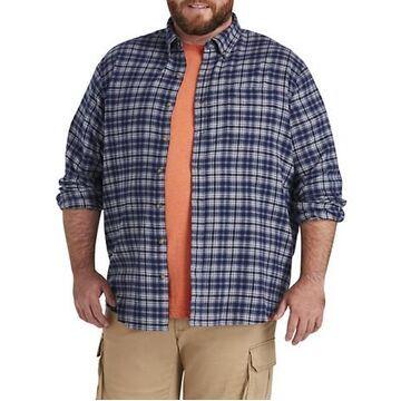 Big & Tall Harbor Bay Large Plaid Flannel Sport Shirt - Nightshadow