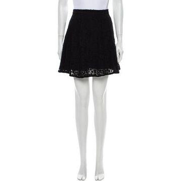 Msgm Lace Pattern Mini Skirt Black Msgm Lace Pattern Mini Skirt