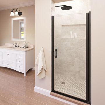 Basco Infinity 27-in to 28-in W Semi-frameless Oil Rubbed Bronze Hinged Shower Door