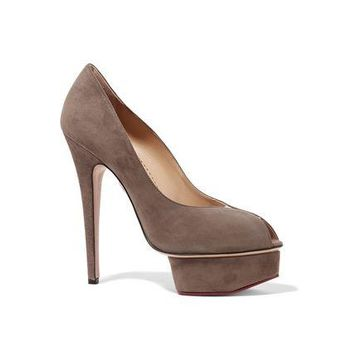 Charlotte Olympia Daphne Suede Pumps