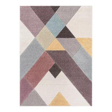Well Woven Whoa Cinca Scandinavian Geometric High-Low Area Rug, Multicolor, 2X7 Ft