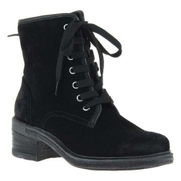 OTBT Women's Country Hiking Boot Black Leather