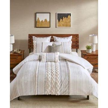 Ink+Ivy Imani 3-Pc. King/California King Cotton Duvet Cover Mini Set Bedding