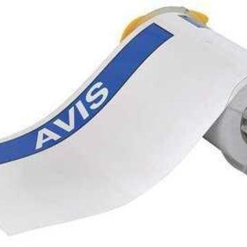 BRADY 130800 Label Avis, White/Blue