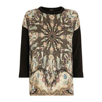 Etro Silk-Panel Sweater