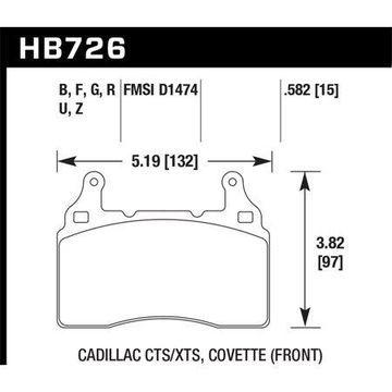 Hawk 2014 Chevrolet Corvette HPS 5.0 Front Brake Pads