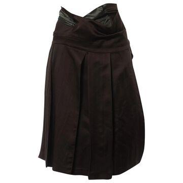 Dries Van Noten Brown Wool Skirts