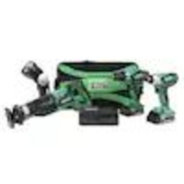 Hitachi 18-Volt 4-Tool Power Tool Combo Kit with Soft Case (2-Batteries Included and Charger Included)