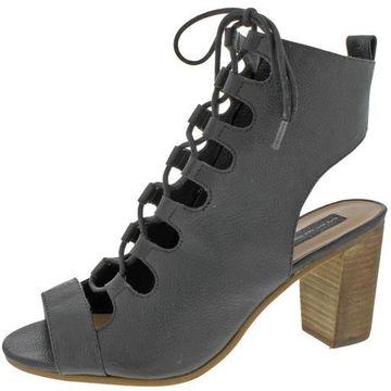Steven By Steve Madden Womens Skylaar Ghillie Stacked Heel Dress Sandals