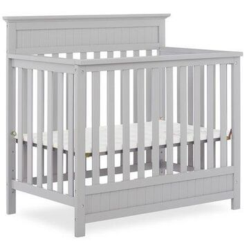 Dream On Me Harbor 4-in-1 Convertible Mini Crib, Pebble Gray