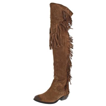 Naughty Monkey Womens Tonto Fallz Over-The-Knee Boots Suede Tall