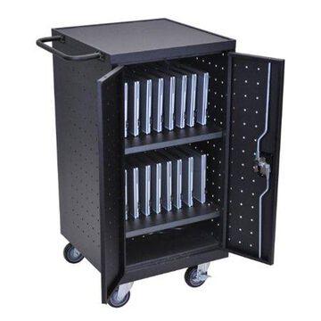 Luxor Tablet/Laptop/Chromebook Charging Cart-Color:Black