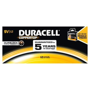 Duracell Coppertop Alkaline 9V - 12 pk