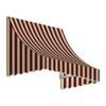 Awntech Nantucket 64.5-in Wide x 24-in Projection Striped Crescent Window/Door Fixed Awning