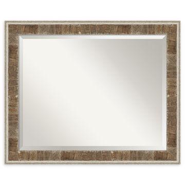 Amanti Art Farmhouse Narrow Wall Mirror in Brown