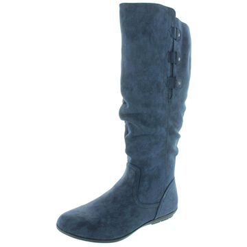 Cliffs by White Mountain Womens Felisa Wide Calf Faux Suede Mid-Calf Boots