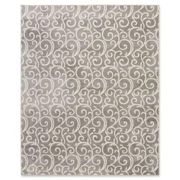 Nourison Grafix Scroll 5'3 x 7'3 Area Rug in Grey