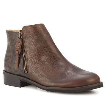 Walking Cradles Kason (Brown Light Tumbled/Dressy Croco) Women's Zip Boots
