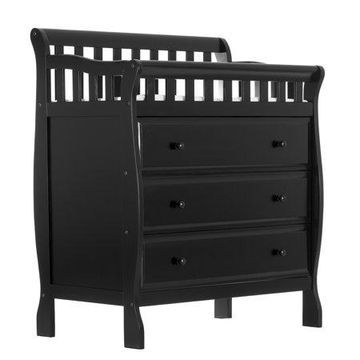 Dream On Me Marcus Changing Table And Dresser, Black