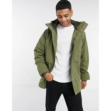 Selected Homme parka with recycled padding in green
