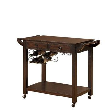 Furniture of America Heron Traditional Kitchen Cart